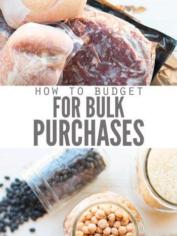 How to Budget for Bulk Purchases- DontWasteTheCrumbs.com