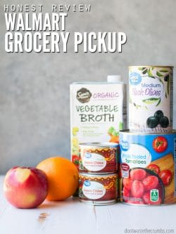 What you need to know about Walmart grocery pickup, before you shop! This is my honest review, with pros, cons, problems and how it works for our home. | | DontWasteTheCrumbs.com