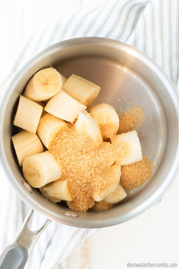 caramelized bananas with banana bread recipe