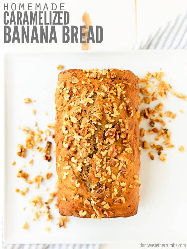 banana bread recipe with caramelized bananas