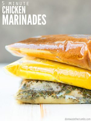 21 healthy & easy chicken marinade recipes using 4 ingredients or less! Basics like lemon, soy sauce, honey & Worcestershire make dinner spicy & easy! :: DontWastetheCrumbs.com