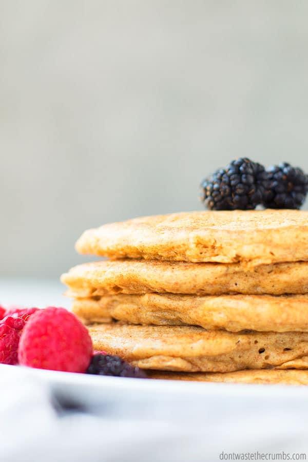 how to make sourdough pancakes with a sourdough discard