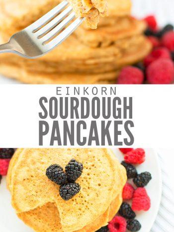 sourdough pancakes recipe with gluten free flour einkorn flour