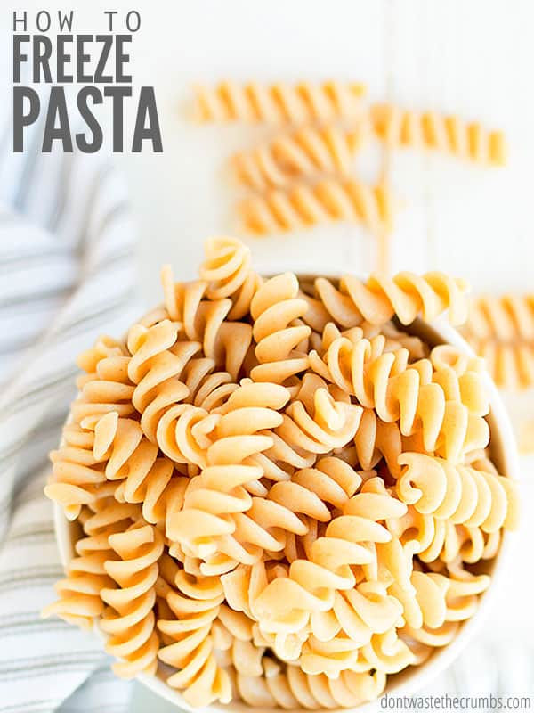 Can you freeze cooked pasta