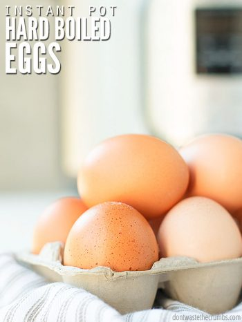 Skip the 5 5 5 or 2 minutes method and make PERFECT Instant Pot hard boiled eggs every time! Works for one egg or a dozen (12) with option for soft boiled. :: DontWastetheCrumbs.com