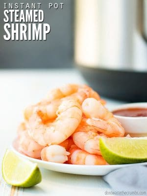 Instant Pot Steamed Shrimp