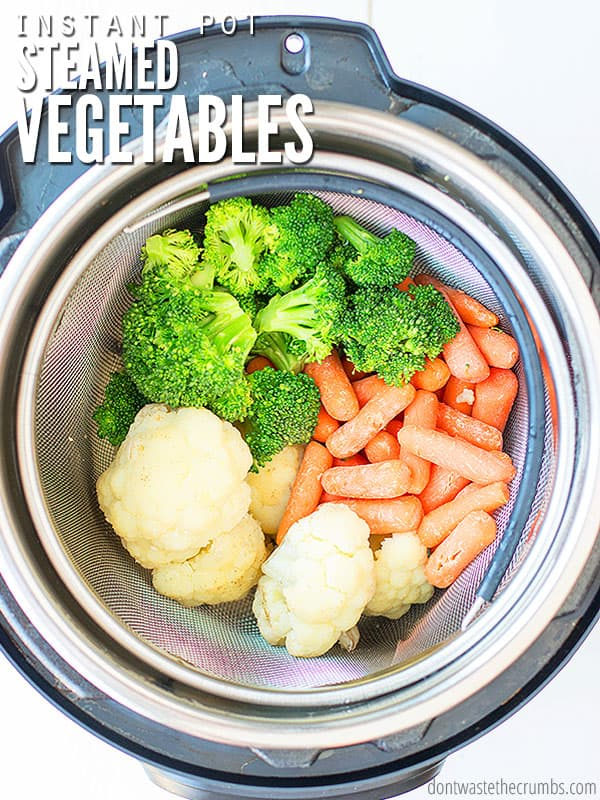 Instant pot steamed vegetables recipe