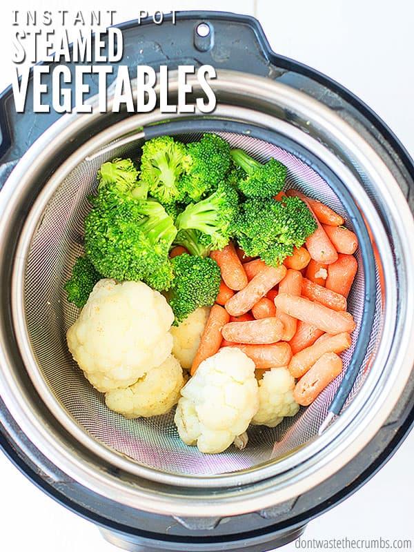 Instant pot steamed vegetables recipe