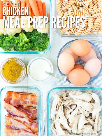 Download this FREE 7-day meal plan of healthy chicken meal prep recipes, including a shopping list! Simple ideas for the week to help you get dinner on the table, fast! :: DontWastetheCrumbs.com