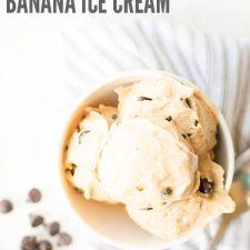 Chocolate Chip Peanut Butter Banana Ice Cream