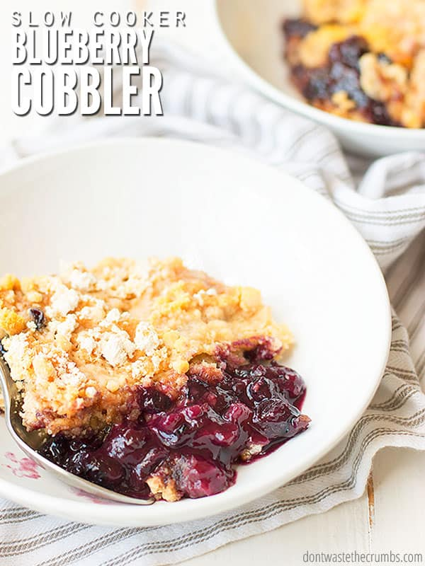 How to make blueberry cobbler