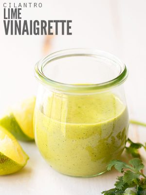 This cilantro lime dressing is so easy and is the BEST! Vegan, Whole30, keto and perfect for tacos. Cheaper than store-bought with option to make it creamy! :: DontWastetheCrumbs.com