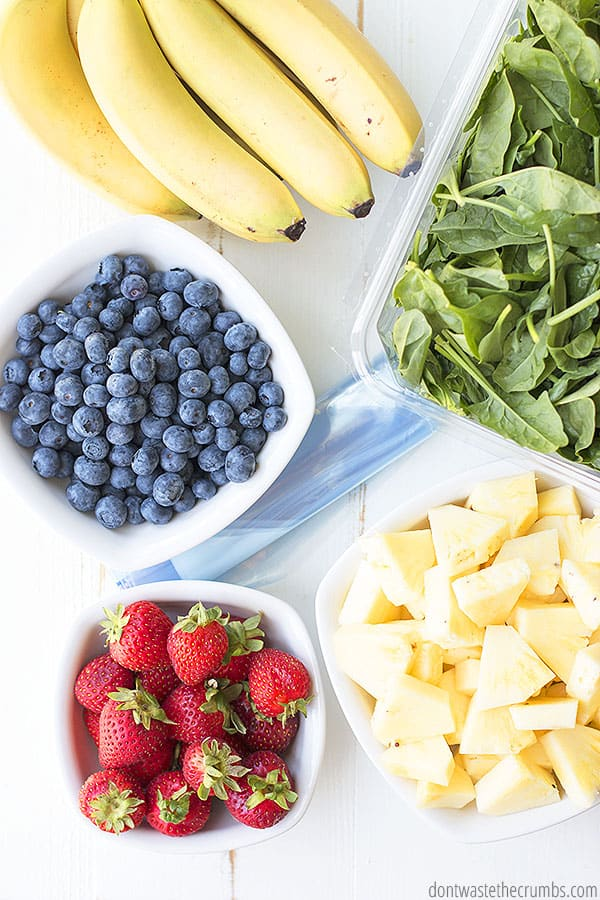 Smoothie prep packs for easy meal prep