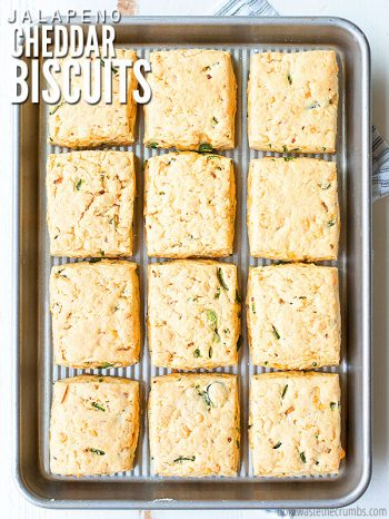 You don't need Pillsbury or Bisquick to make these easy jalapeno cheddar biscuits! These FLY off the table, and you control the spicy with the peppers! :: DontWastetheCrumbs.com