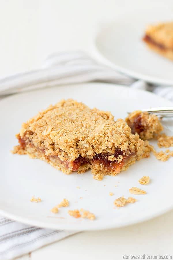 Learn how to make healthy oatmeal jam bars - lightly sweetened and made with the jam of your choice.