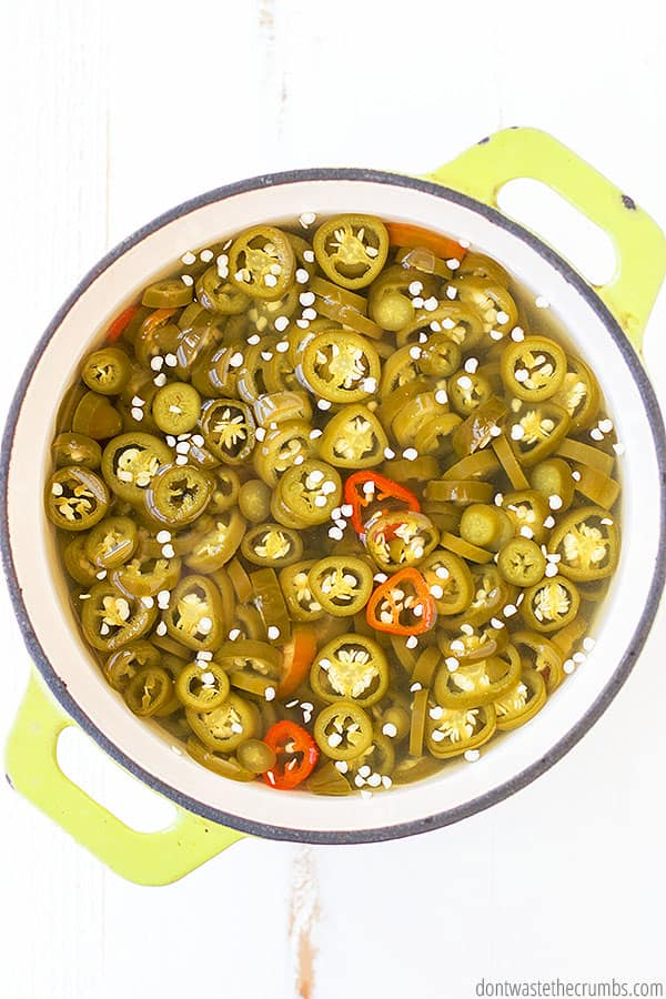 jalapeno rings in vinegar for jars