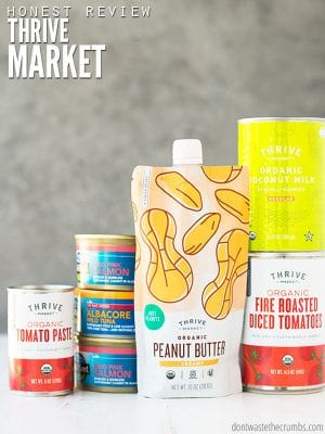Here's my open and honest Thrive Market review, with the good, the bad and the ugly. Can you save money? Is it really healthy? Come and read for yourself! :: DontWastetheCrumbs.com