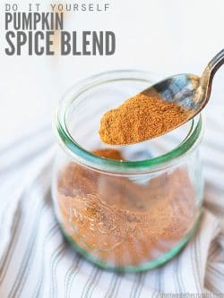 This easy homemade pumpkin pie spice blend makes any beverage you want - coffee, tea, milk - into a pumpkin spiced dream! In under 10 seconds! :: DontWastetheCrumbs.com