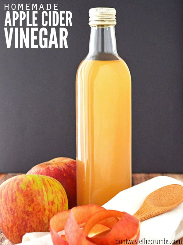 Incredibly simple tutorial for homemade apple cider vinegar