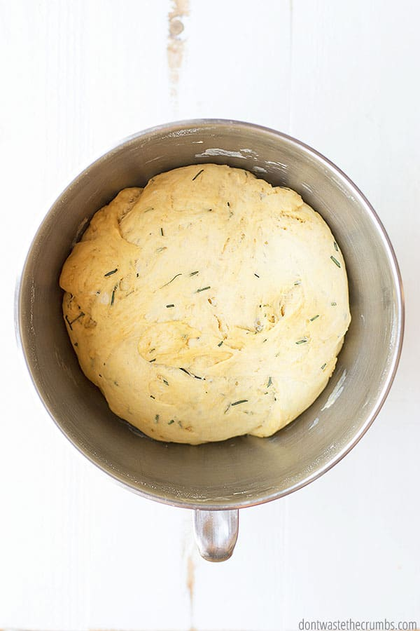 Rosemary olive oil bread can be made in a dutch oven or bread pan