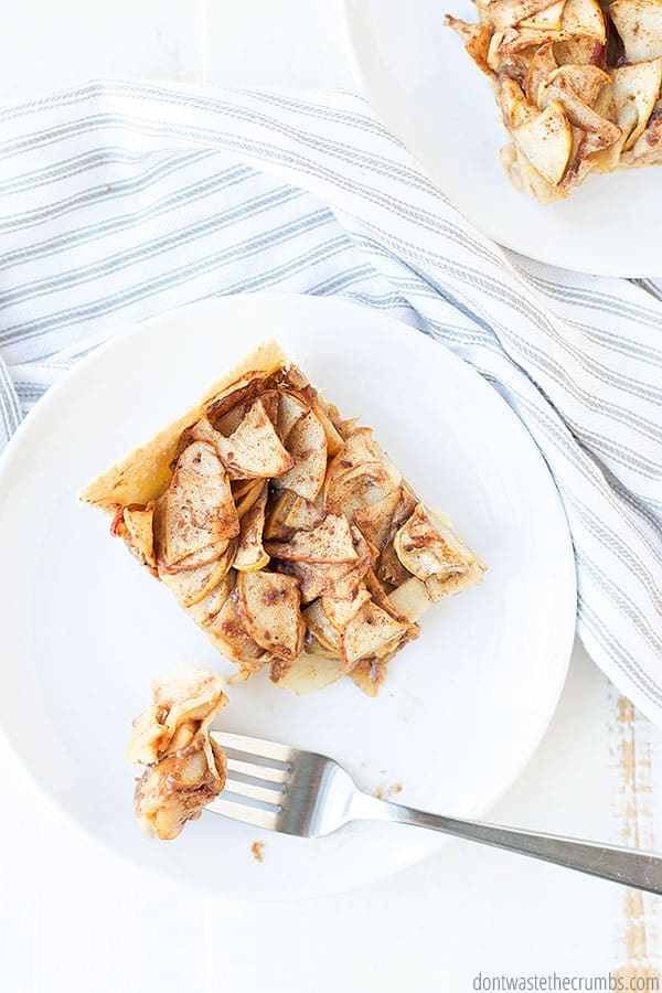 Looking for a way to use apples you picked? This apple slab pie recipe is perfect for that! A great dessert to bring to potlucks, too!