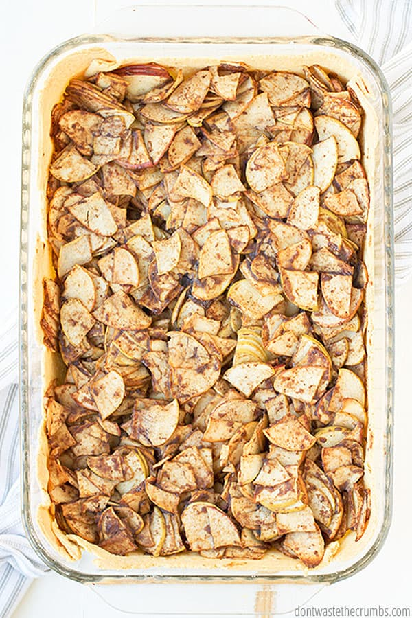 "This pie is made in a 9"" x 13"" pan. Use glass or a cake pan, and check the recipe notes for cook times and temperatures."