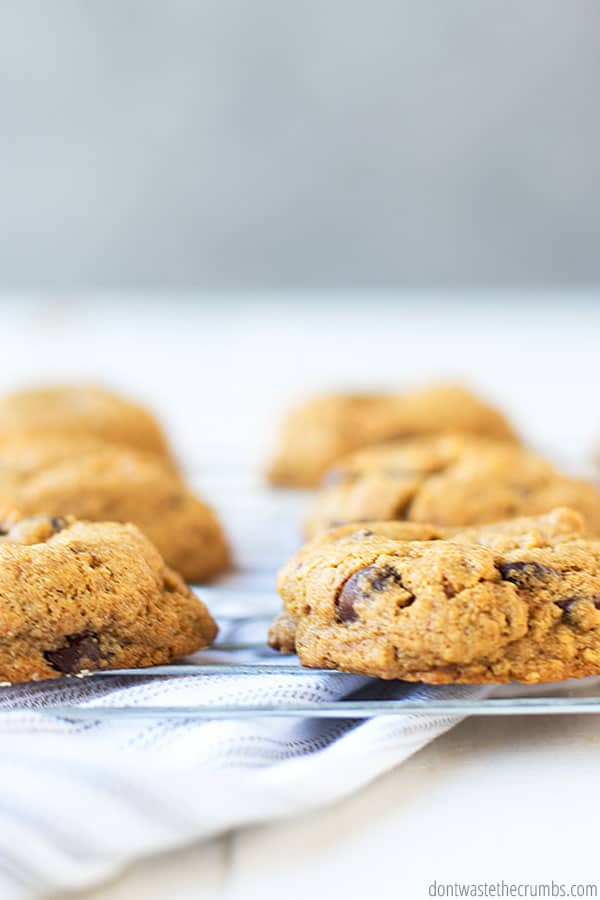 Healthy ingredients make all the difference in these delicious chocolate chip cookies!