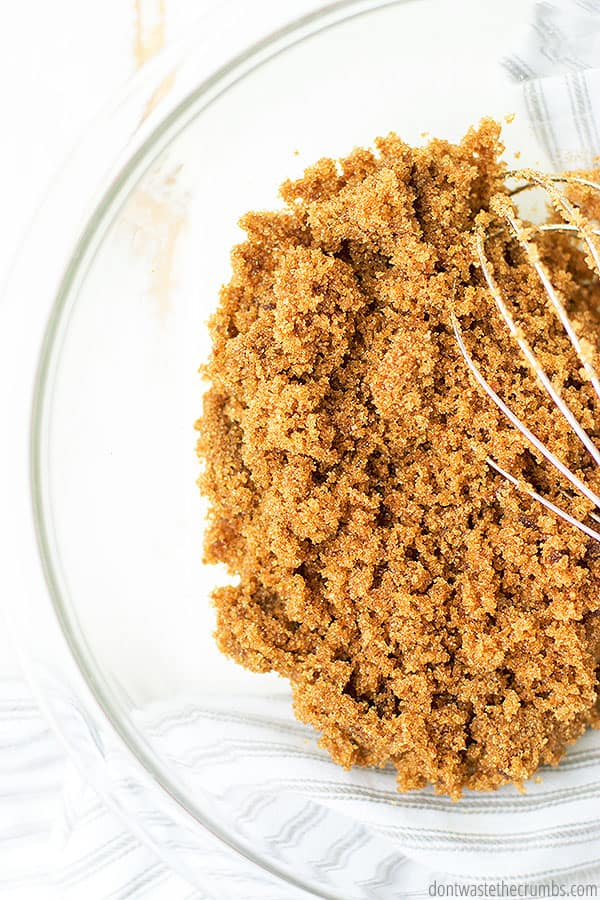 You can make both light and dark brown sugar at home with only two ingredients: white sugar and molasses!