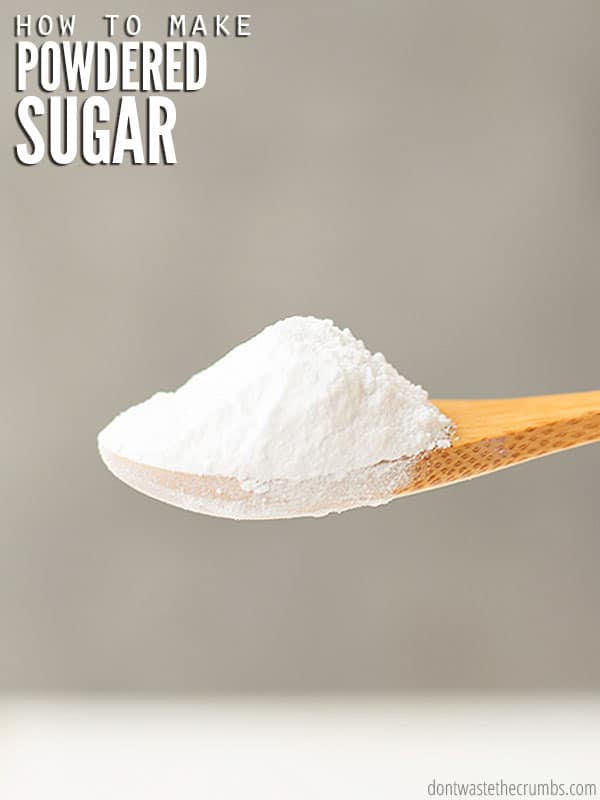 Can you make your own powdered sugar? Learn how with this easy tutorial and save money!