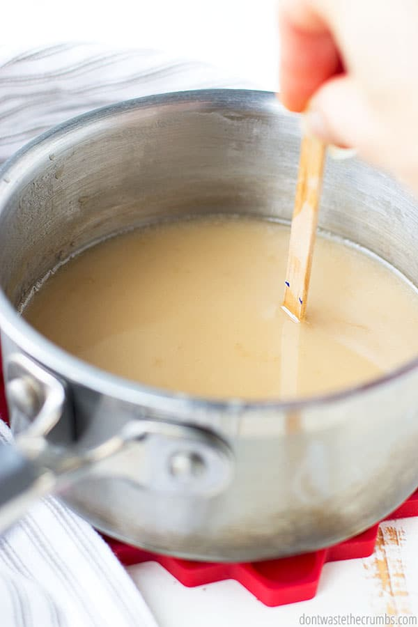 Sweetened condensed milk is so easy to make! It takes a few hours to cook on low, but you can control the ingredients and make it with any kind of milk!