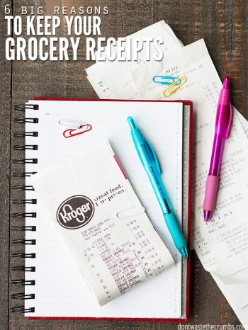 Learn six reasons why saving your grocery receipts is the secret to having a healthy grocery budget and saving more money on food!