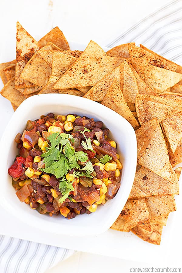 Do you like canning? I like to make homemade salsa, which is perfect for this black bean and corn salsa recipe!