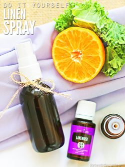 Learn how to make your own Linen Spray with Essential Oils. Freshen pillows, sheets, fabric or the room easily in any scent with just 2 main ingredients! ::dontwastethecrumbs