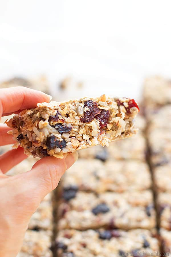 Looking for a simple and delicious vegan granola bar recipe? This is it!