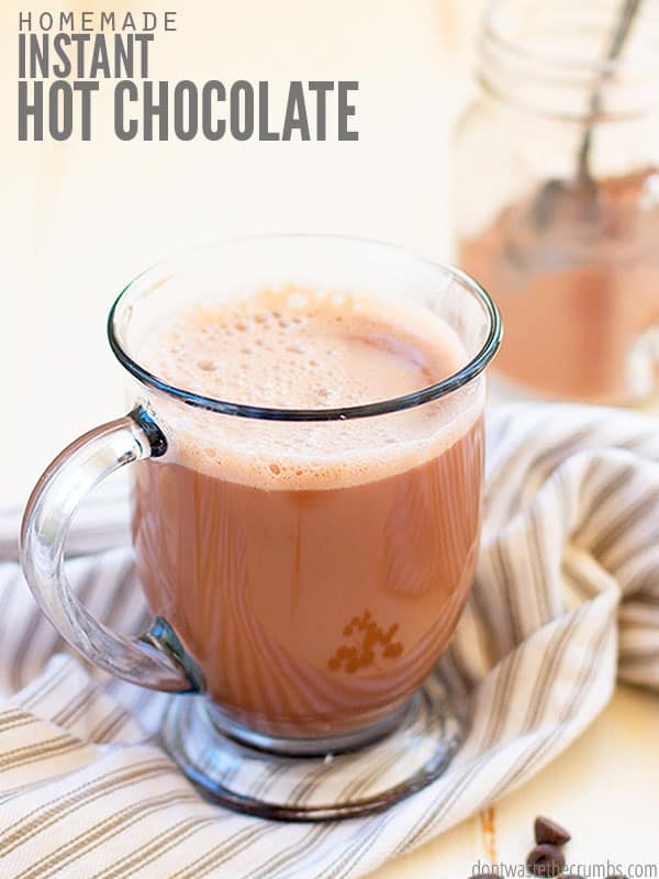 Homemade hot chocolate is the best treat for a cozy winter night! Make it with ingredients you already have in your pantry.