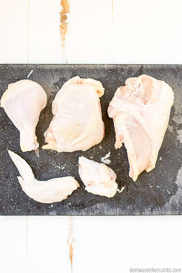 Whether you like whole chicken or shredded chicken, you can make MULTIPLE meals from one bird!