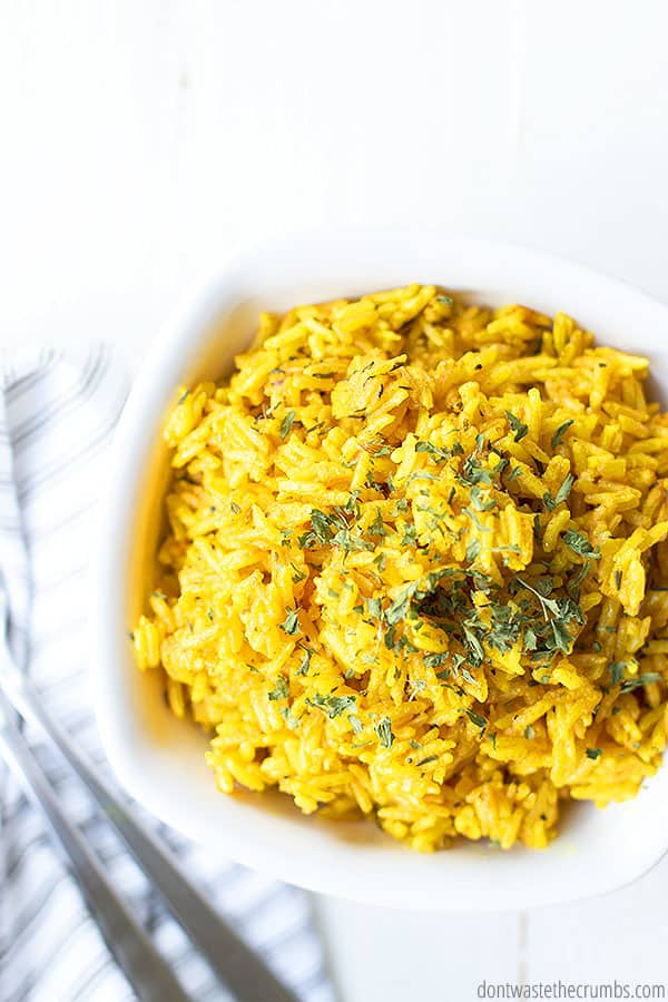 Do you use yellow rice from a package? Try this recipe for yellow rice made in the Instant Pot! It is extremely easy and has no harmful preservatives!