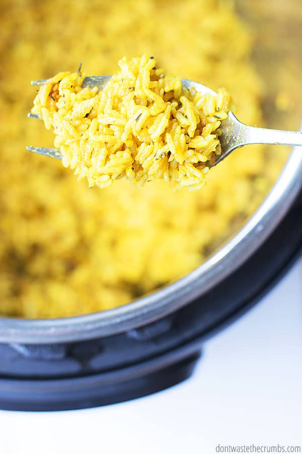 Looking for a side for your chicken? Instant Pot yellow rice is perfect - it is quick, simple, and uses ingredients from your pantry.