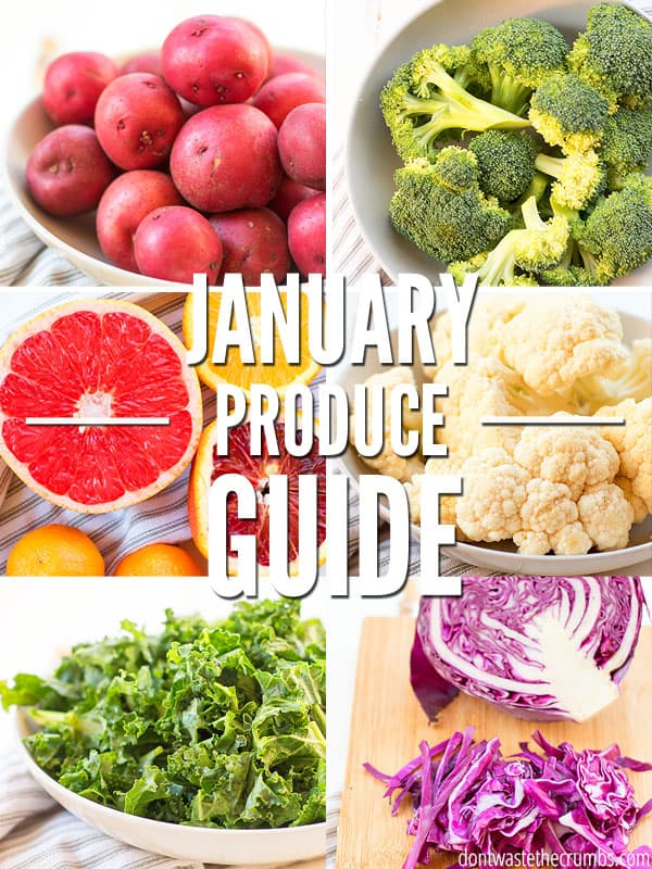 Here is an In Season Produce Guide for January with fresh fruits, vegetables and recipe inspirations to help you prepare wholesome meals for the whole family this winter