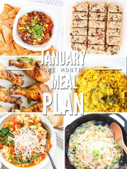 A One-Month Meal Plan for January 2020 full of healthy and easy real food recipes for the whole family! ::dontwastethecrumbs
