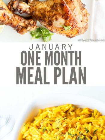 This Whole Foods Meal Plan for January 2020 is the perfect guide to help you meet all of your new year goals for healthy eating at home.