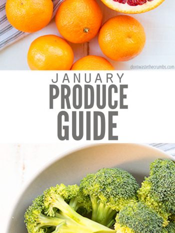 Enjoy this In Season Produce Guide for January with fresh fruits, vegetables and recipe inspirations to help you cook wholesome meals for the whole family this winter
