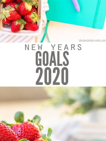 Here are my goals for the New Year 2020 with exciting goals for recipes, meal planning, grocery budgeting and natural living!