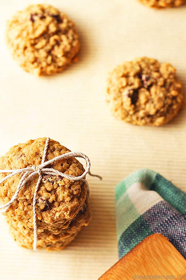 The best oatmeal chocolate chip cookies! This simple and easy recipe is our family's favorite, and the kids choose it every time. They're soft, loaded with chocolate and a nice change of pace from a plain chocolate chip cookie - absolutely delicious!