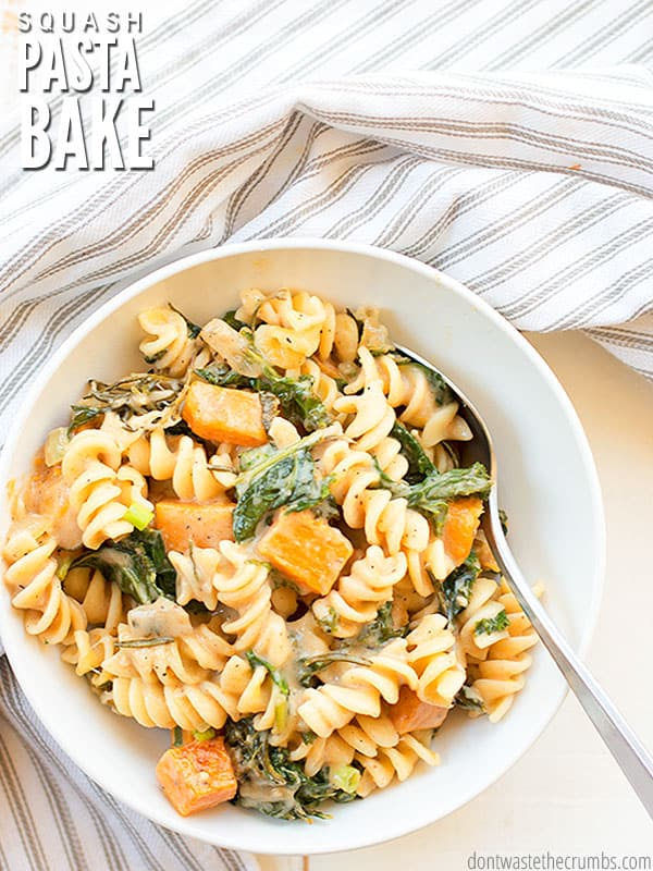 Have you ever needed super delicious comfort food? Butternut squash pasta bake is your answer!