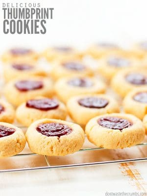 These healthy thumbprint cookies are gluten free, naturally sweetened, and vegan-friendly!