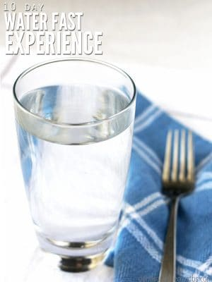 This is a personal story of water fasting for 10 days. No food, no medicine. Find out the benefits, challenges, and results of water fasting. :: DontWastetheCrumbs.com