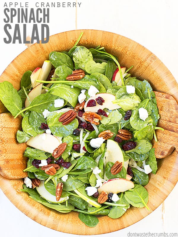 This spinach salad is my go to recipe for when I need a quick and easy salad that can be versatile in the ingredients. You can swap so many elements if you don't have something on hand, and it comes out delicious every time.