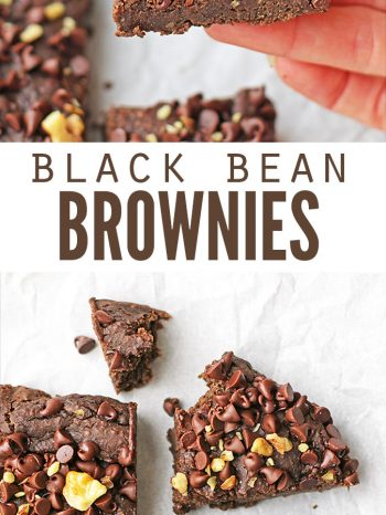 These black bean brownies are so healthy and super simple to make in a blender. They're vegan & allergy- friendly, refined sugar-free, no flour and no mix!