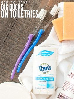 Learn how to make a toiletries budget & what expenses to consider when budgeting your monthly toiletries list. Tips for making your own toiletries as well! :: DontWastetheCrumbs.com